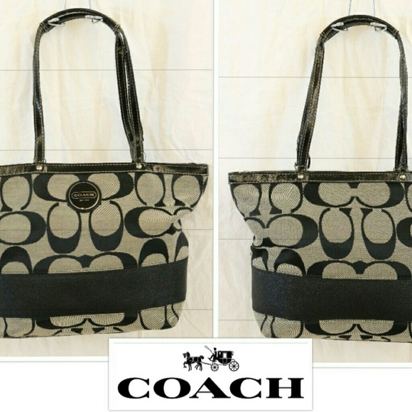 Coach Bags 17433 Signature Stripe Tote Purse Poshmark